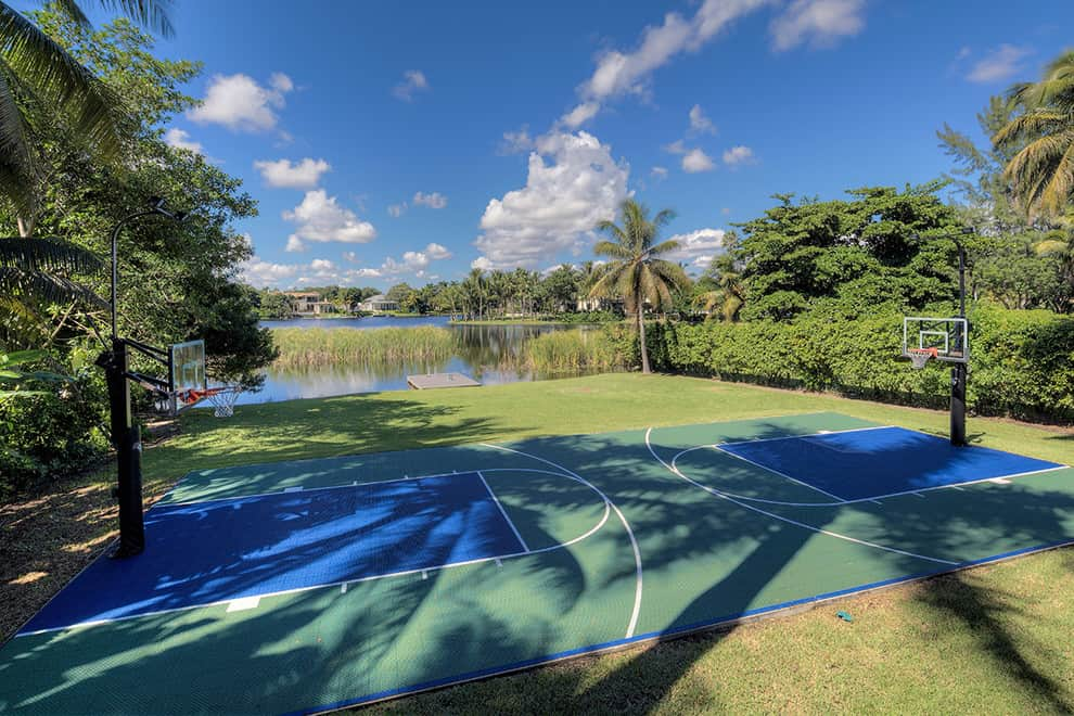 Backyard Basketball Court Idea