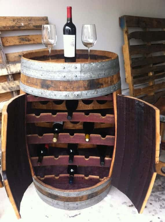 barrel wine rack canada australia perth