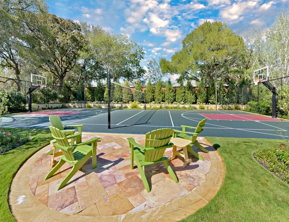 Backyard Basketball Court Ideas - Stencils, Layouts, & Dimensions