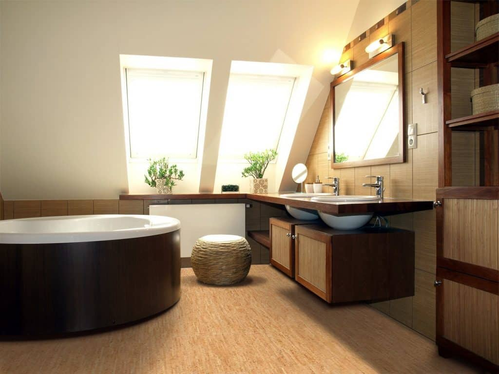 Bathroom Flooring cork tiles 14
