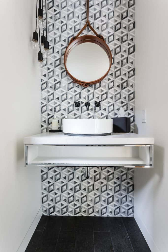 Bathroom Tile Ideas-modern-powder-room