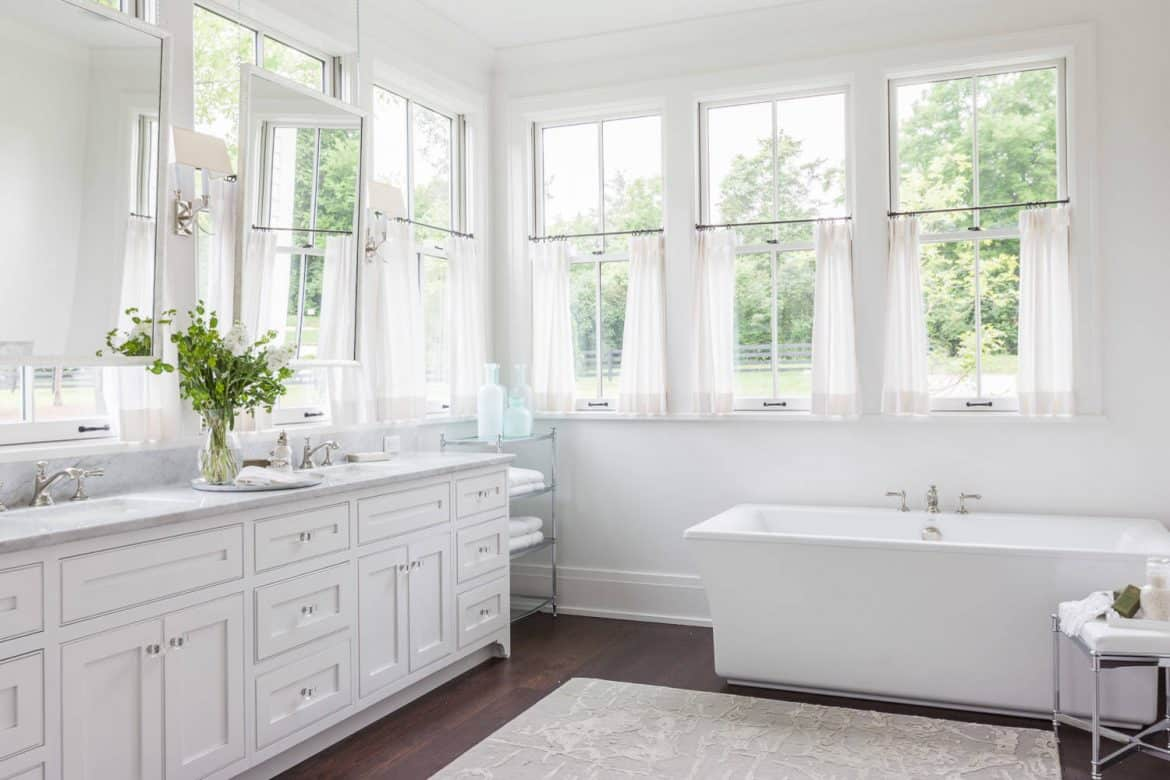 Tips ideas for choosing bathroom window curtains with photos - Choosing the right window size ...