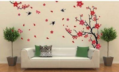 Beautiful Flower Tree Birds