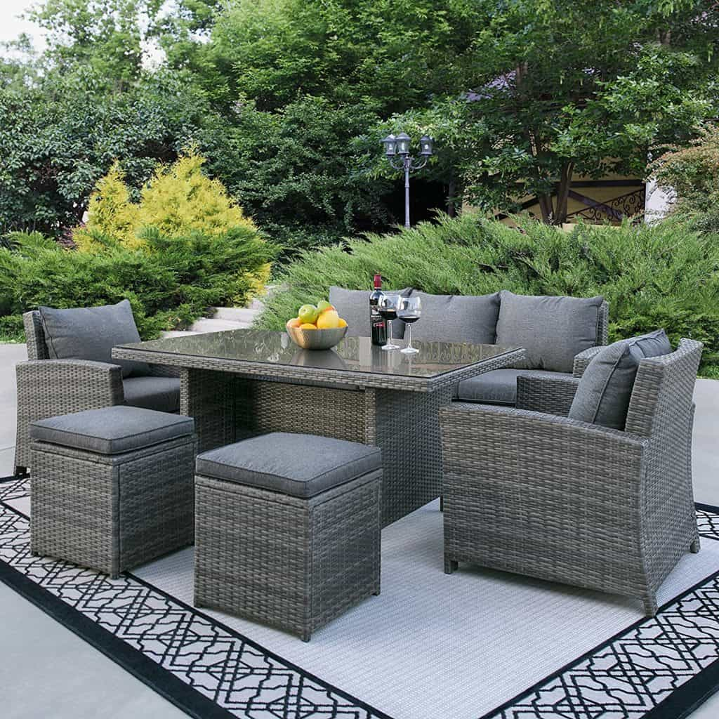Enjoy your summer with outdoor wicker furniture 50 idea for Outdoor patio dining
