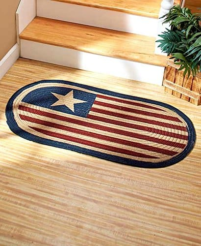 Braided Americana Accent Rug