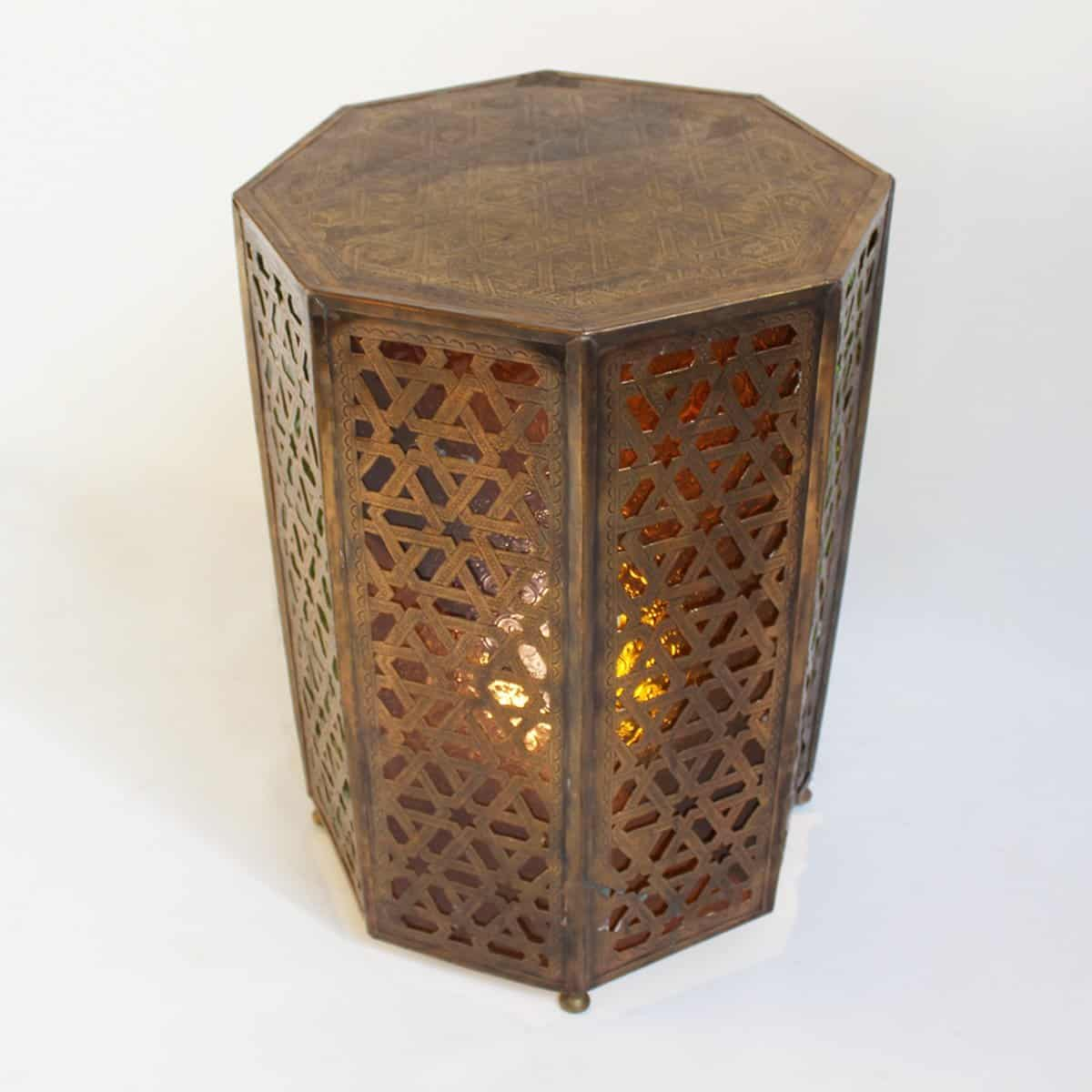 Moroccan decor moroccan lanterns and lamps part 9 - Brass Moroccan Table Light