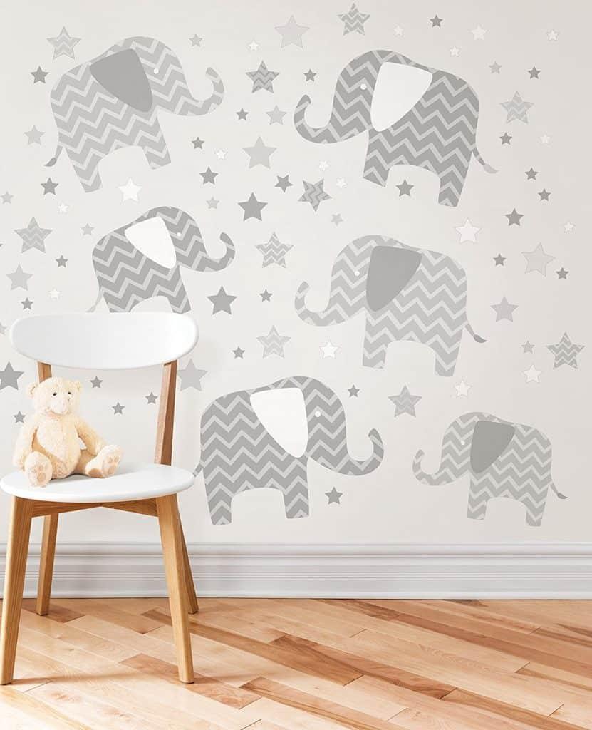 Brewster Elephants - A Ton Of Love Wall Art Kit