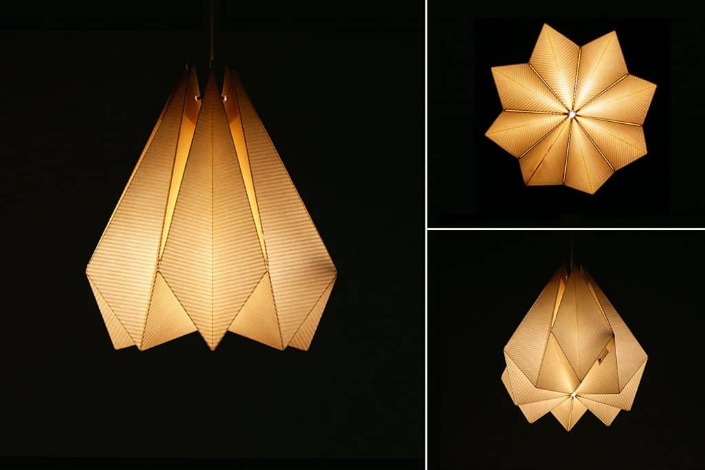 Brownfolds Paper Origami Lamp Shade; Vanilla Bliss Single Pack Pearl Gold