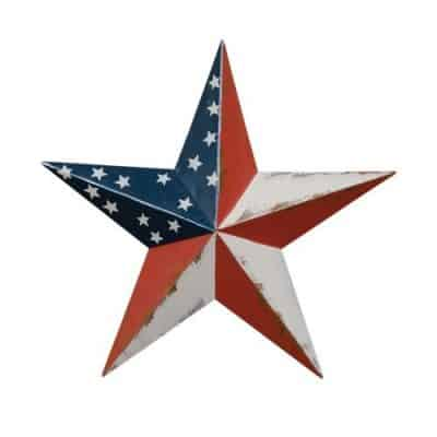 CWI Gifts Americana Barn Star Wall Decor, 8-Inch