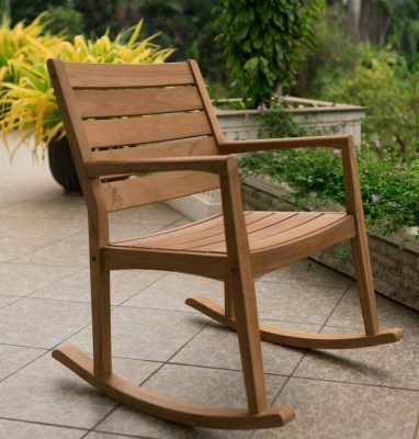 Cambridge-Casual AMZ-130809T Andrea Teak Rocking Chair, Natural