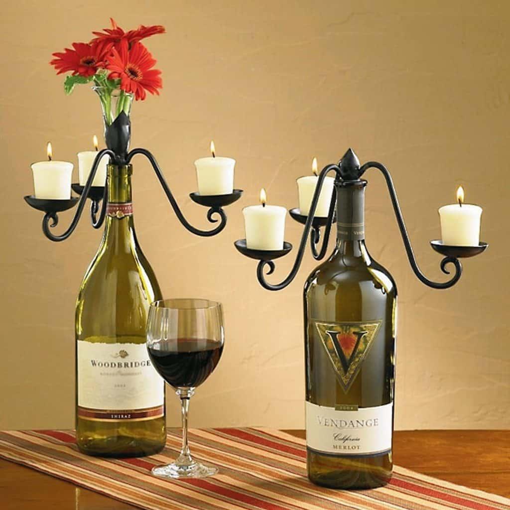 Candelabra Wine Bottle Topper