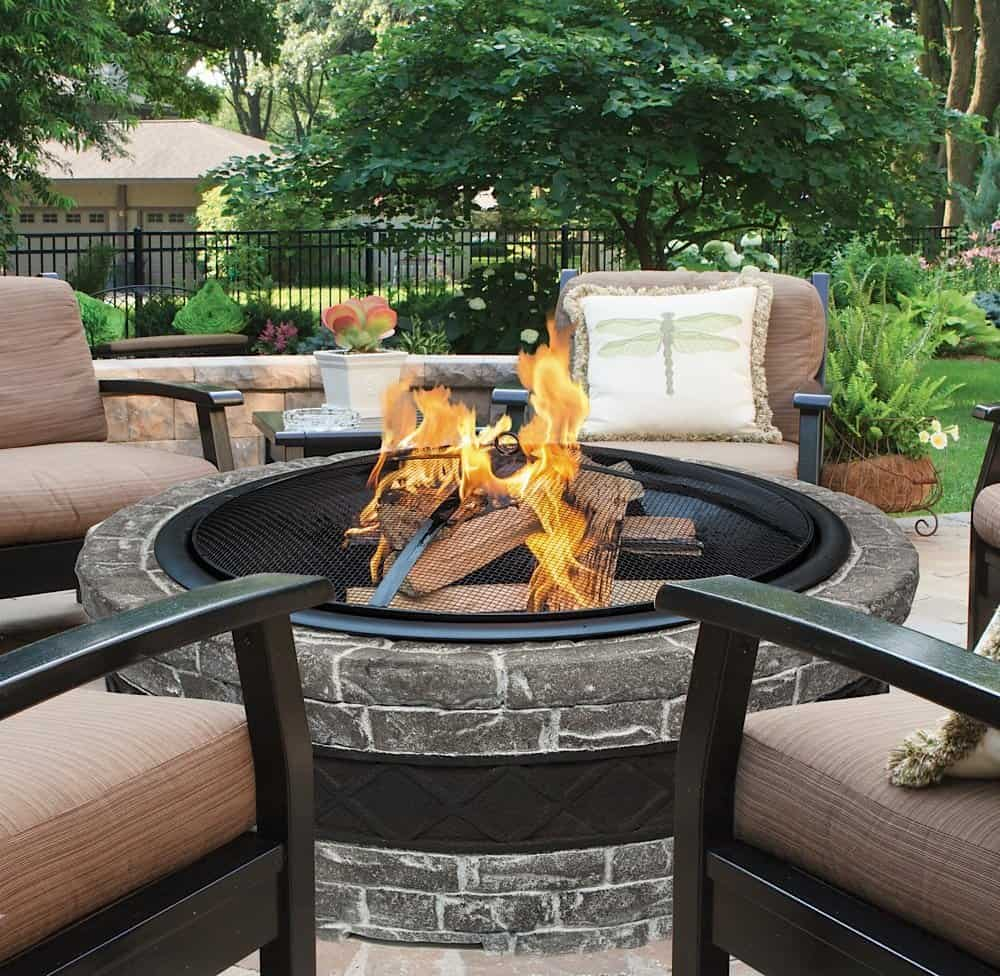 Cast Stone Wood Burning Fire Pit