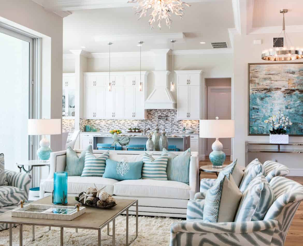 Coastal decor ideas for nautical themed decorating photos for Coastal beach house designs