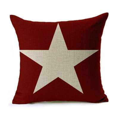 CoolDream 18x18 Inch Cotton Linen Decorative Throw Pillow Cover