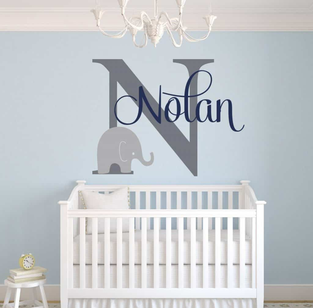 smartness ideas heart shaped wall decor. Custom Elephant Name Wall Decal for Boys 40  Decor Ideas HUGE Art your Walls