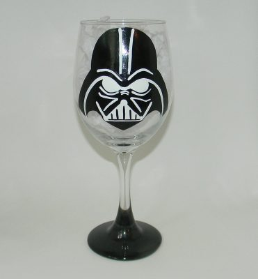 Darth Vader wine glass