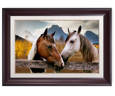 DecorArts - Wild West Love - Personalized canvas print Artwork(FRAMED)