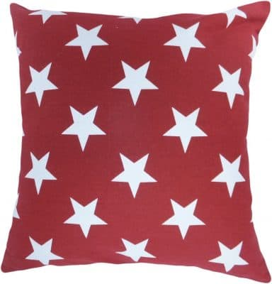Decorative Printed Star Floral Throw Pillow Cover 18 Burgundy