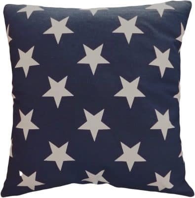 Decorative Printed Star Floral Throw Pillow Cover 18 Navy