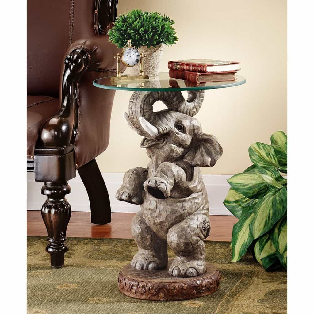 Design Toscano Good Fortune Elephant End Table
