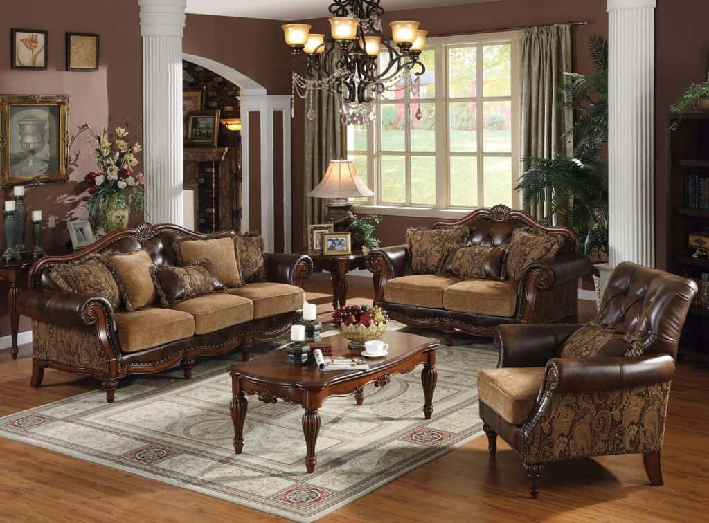 Dreena Collection 3pc Set Sofa, Loveseat & Chair