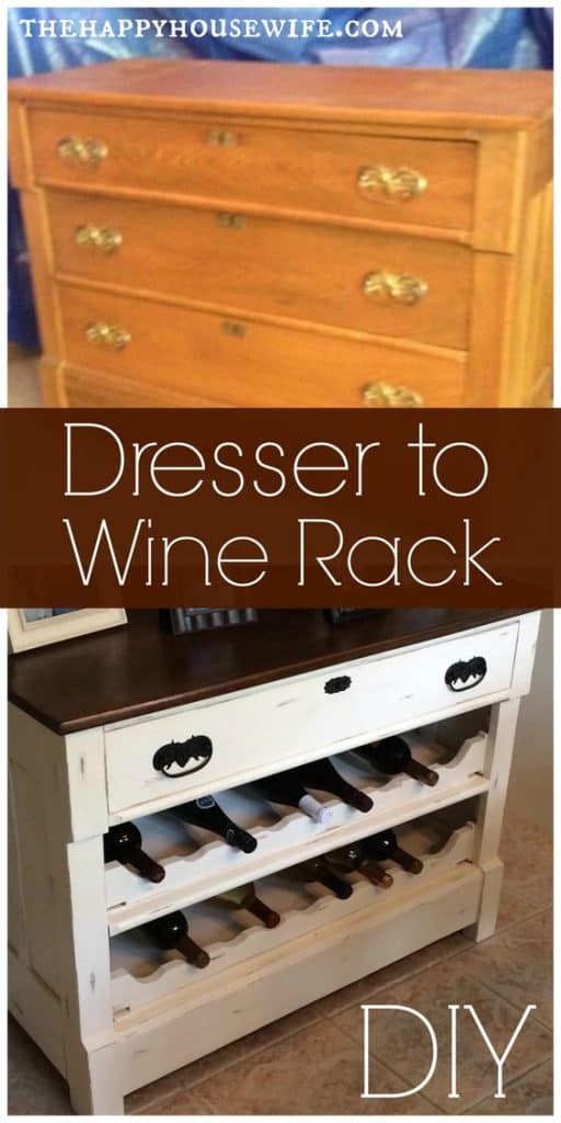 Dresser to Wine Rack DIY