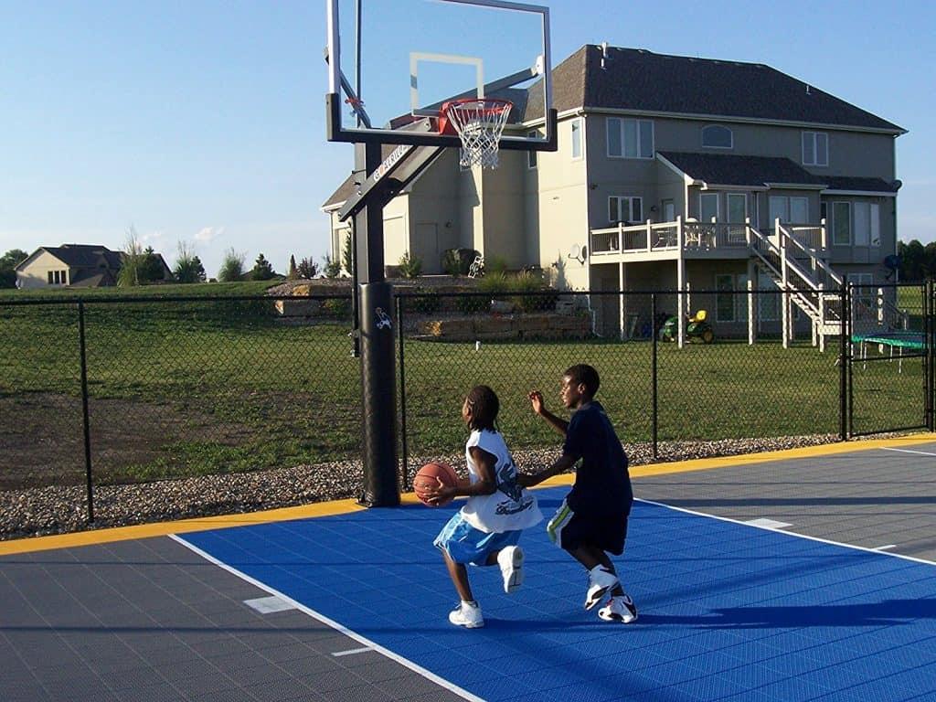 backyard basketball court ideas stencils layouts u0026 dimensions