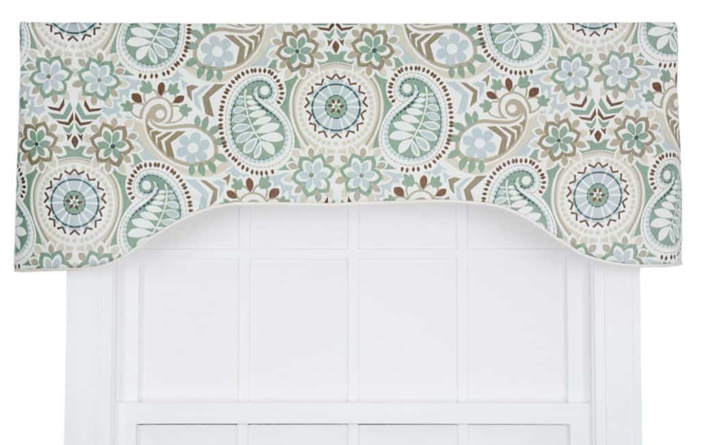 Ellis Curtain Paisley Prism Jacobean Floral Print Lined Arched Valance