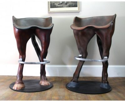 Delicieux Funny Horse Tail Bar Stool W Foot Rest Custom Painted Western PRS