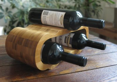 Hala Mod Bamboo 6-bottle Wine Rack