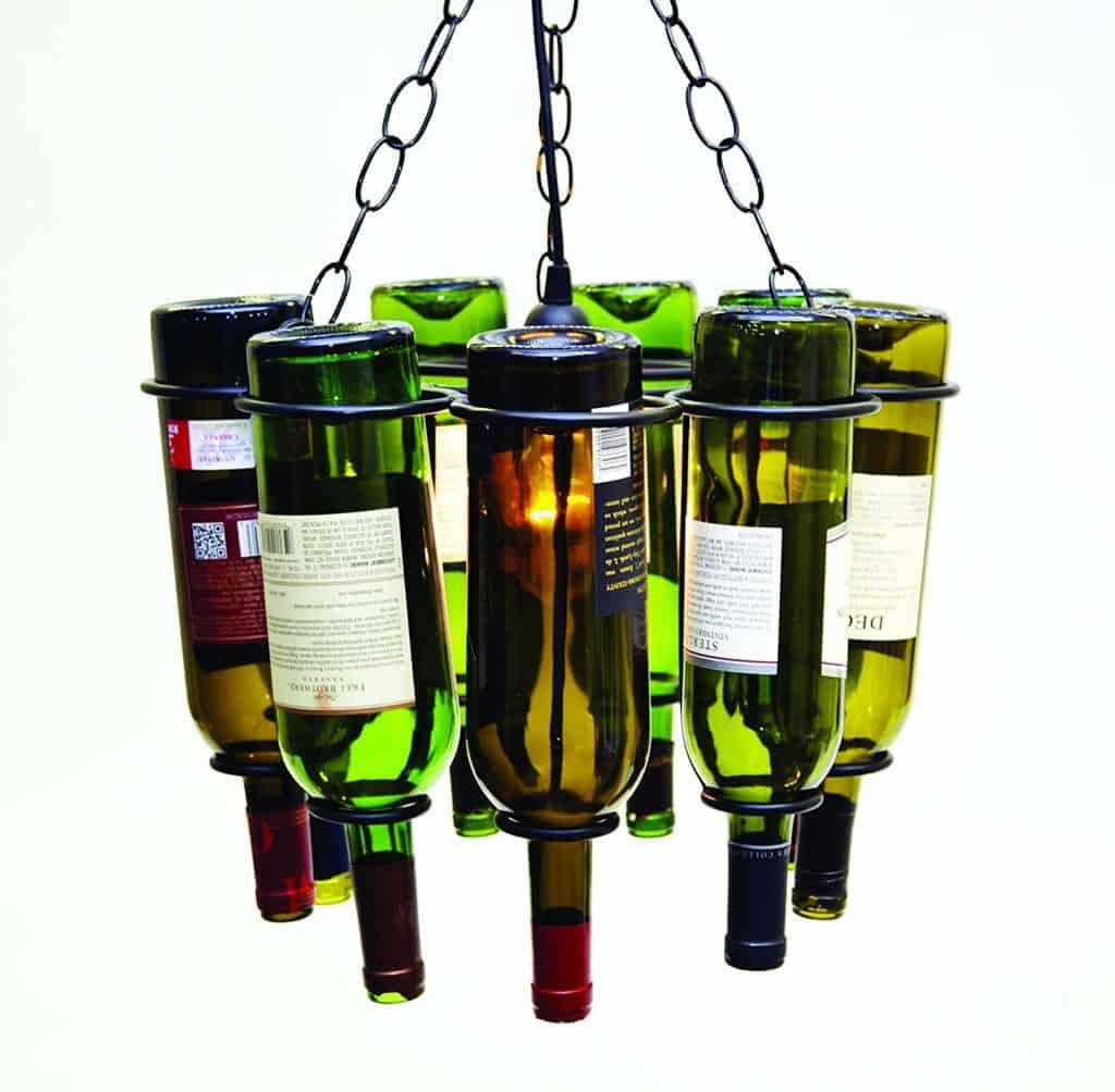 Hanging Wine Bottle Socket Set Pendant Lamp
