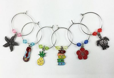 HawaiianTropical Wine Glass Charms