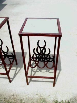 Horseshoe Wine Rack Table