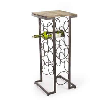 Joveco Black Iron and Walnut Rectangular Wood Top