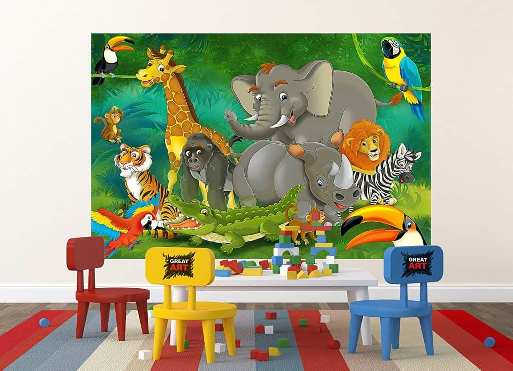 smartness ideas heart shaped wall decor. Jungle Animals Photo Wall Paper  and Mural Xxl Decoration Nursery 40 Elephant Decor Ideas HUGE Art for your Walls