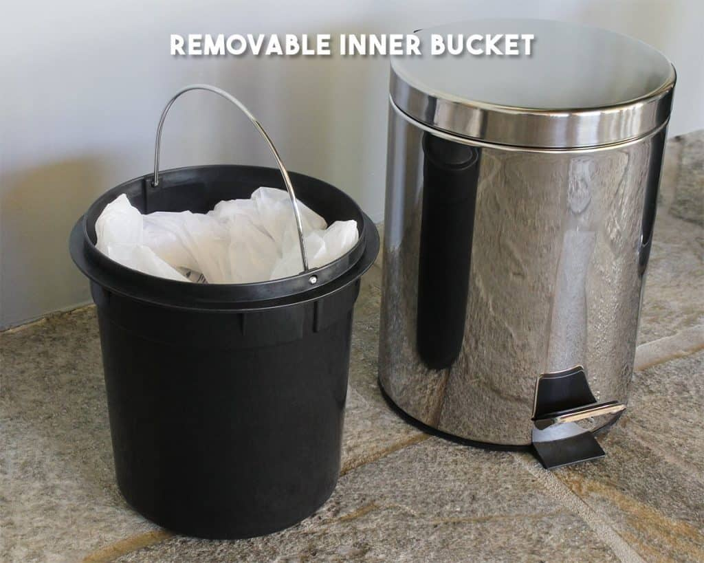Juvale Stainless Steel Trash Can - Step Trash and Recycling Bin