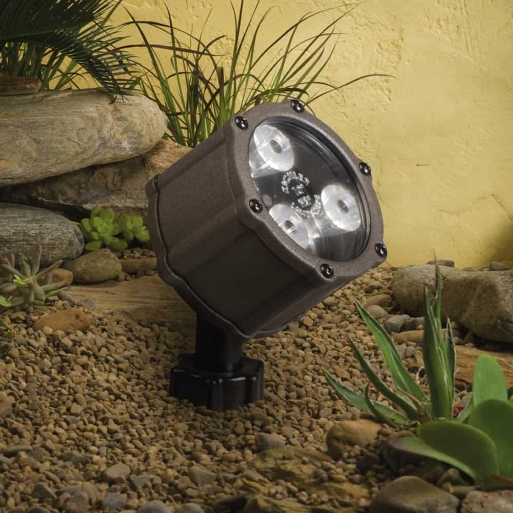 Kichler 15732AZT, Landscape LED Low Voltage Flood - landscape lighting ideas