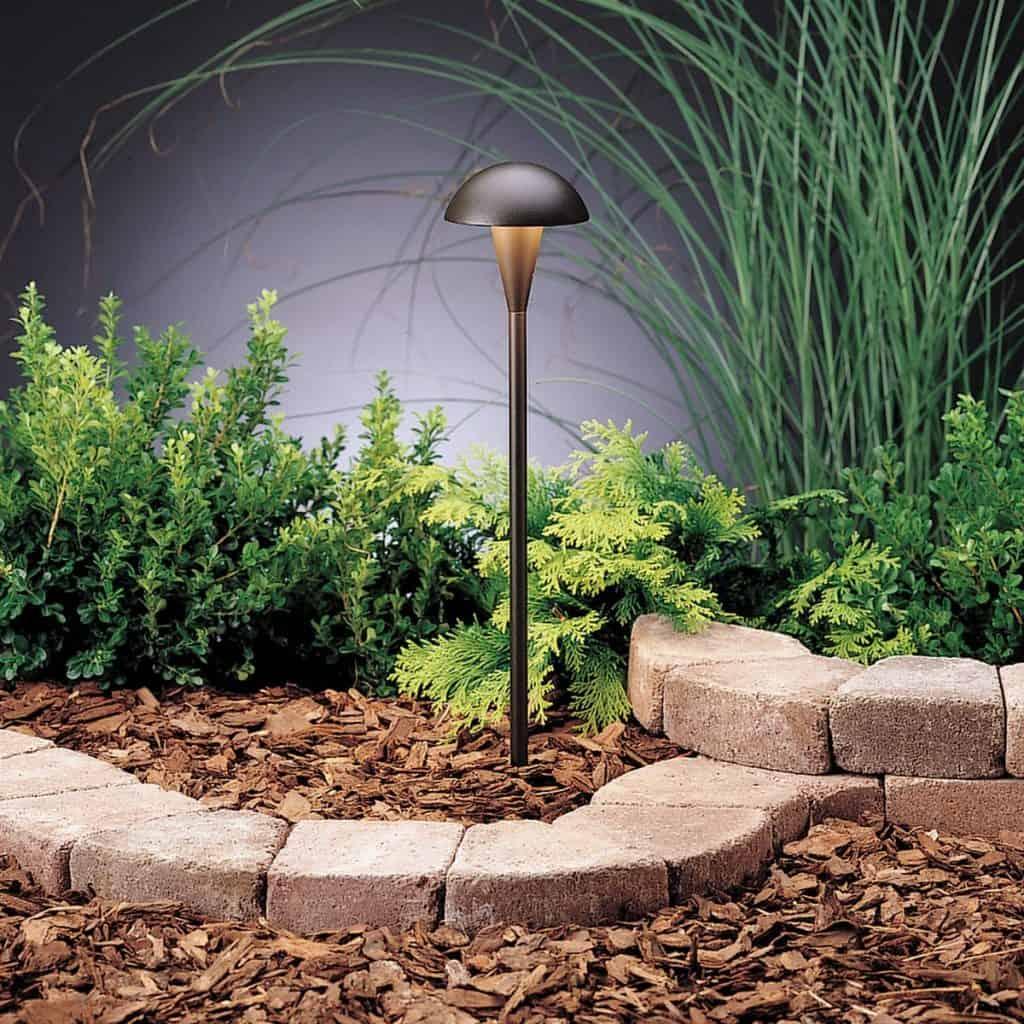 Kichler Lighting 15323AZT Eclipse 1LT Incandescent/LED Hybrid LV Landscape Path and Spread Light - landscape lighting ideas