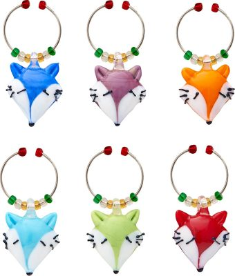 LSArts Wine Charms, Foxes