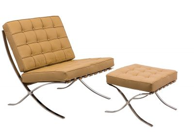 LeisureMod Modern Bellefonte Pavilion Chair & Ottoma
