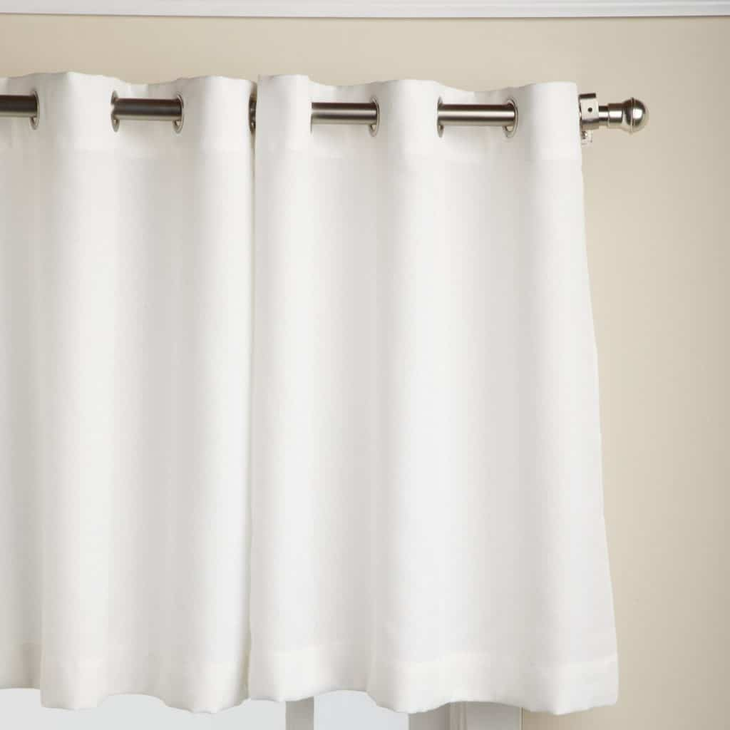 Lace bathroom window curtains - Lorraine Home Fashions Jackson 58 Inch X 24 Inch