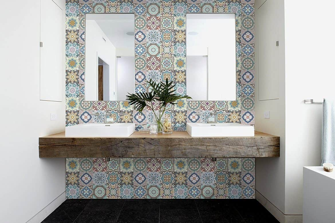 Can you use vinyl flooring on bathroom walls answered w tips marruecos decorative tile stickers dailygadgetfo Gallery