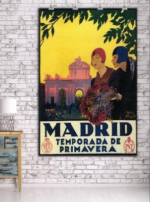 Madrid in Springtime - Vintage Travel Advertisement