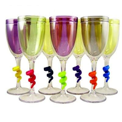Make My Day Temptations Wine Glass Charms
