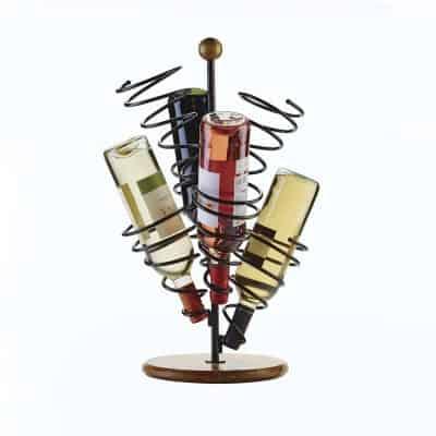 Metal Spiral Wine Bottle Holder