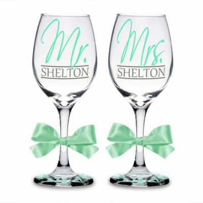 Mr. & Mrs. Personalized Wine Glasses