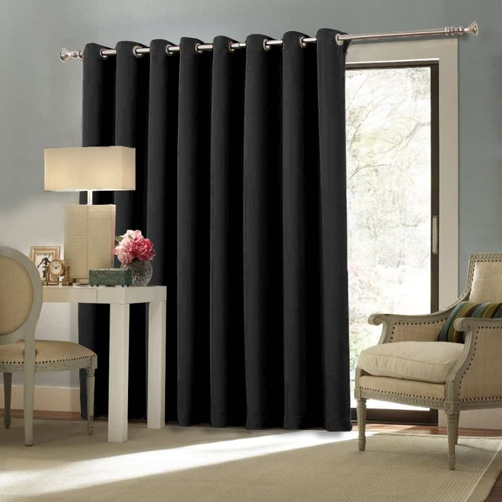 Window treatments for sliding glass doors ideas tips nicetown space solution extra large grommet top room divider curtain panel eventelaan Gallery