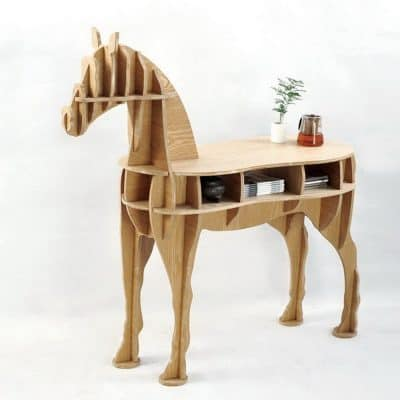 other home decor living room end table wooden horse desk - Horse Decor
