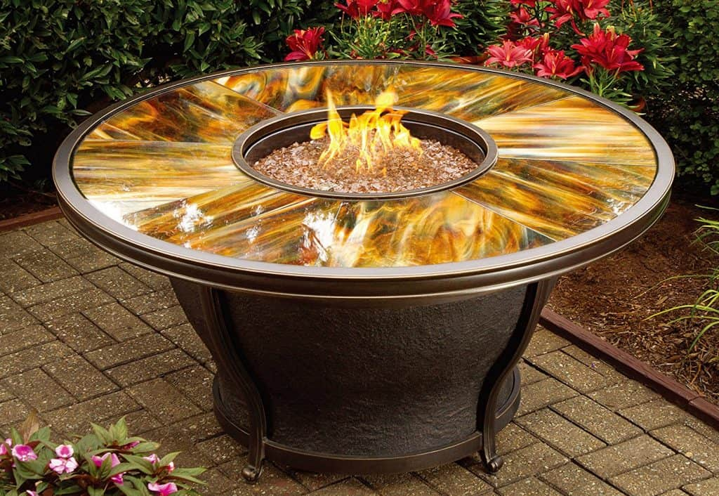 Oakland Living Moonlight Round Gas Firepit Table