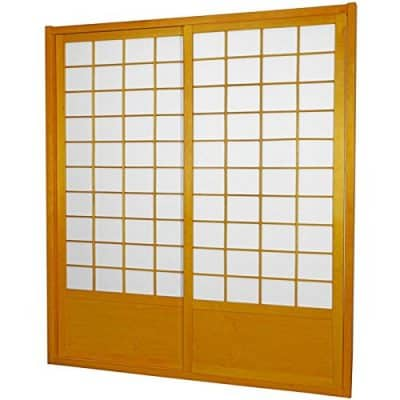 Oriental Furniture 7 ft. Tall Zen Shoji Sliding Door Kit - Honey